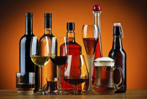 Different types of wine and liquor